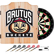 Trademark Global Ohio State Buckeyes Brutus Dart Cabinet Set