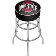 Trademark Global Ohio State Buckeyes Black Padded Bar Stool