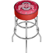 Trademark Global Ohio State Buckeyes Padded Bar Stool