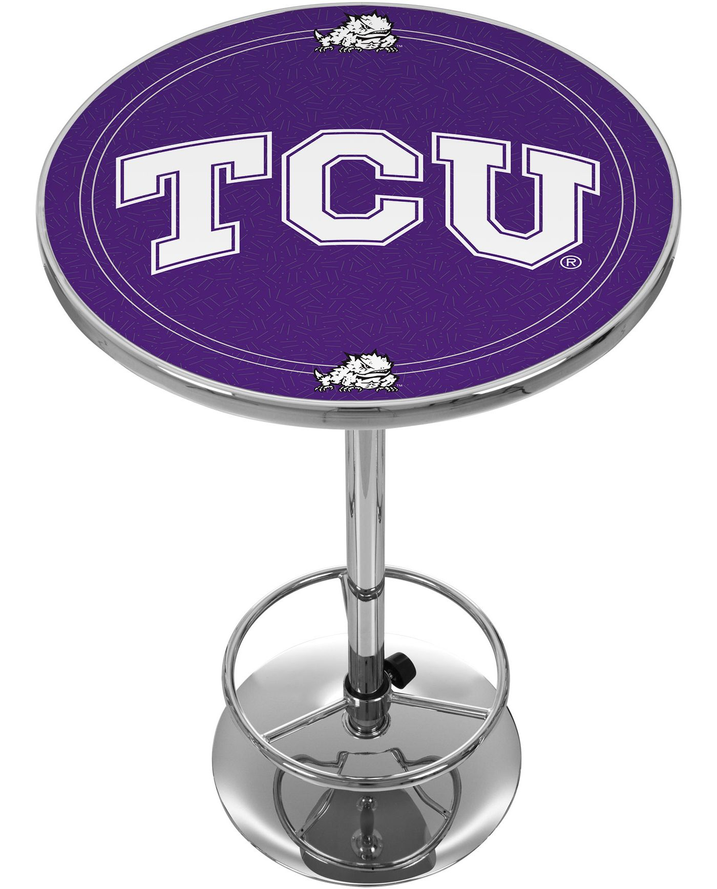Trademark Global TCU Horned Frogs Chrome Pub Table