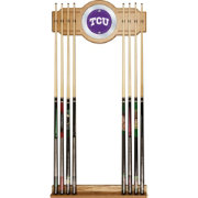 Trademark Global TCU Horned Frogs Cue Rack with Mirror