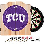 Trademark Global TCU Horned Frogs Wood Dart Cabinet Set