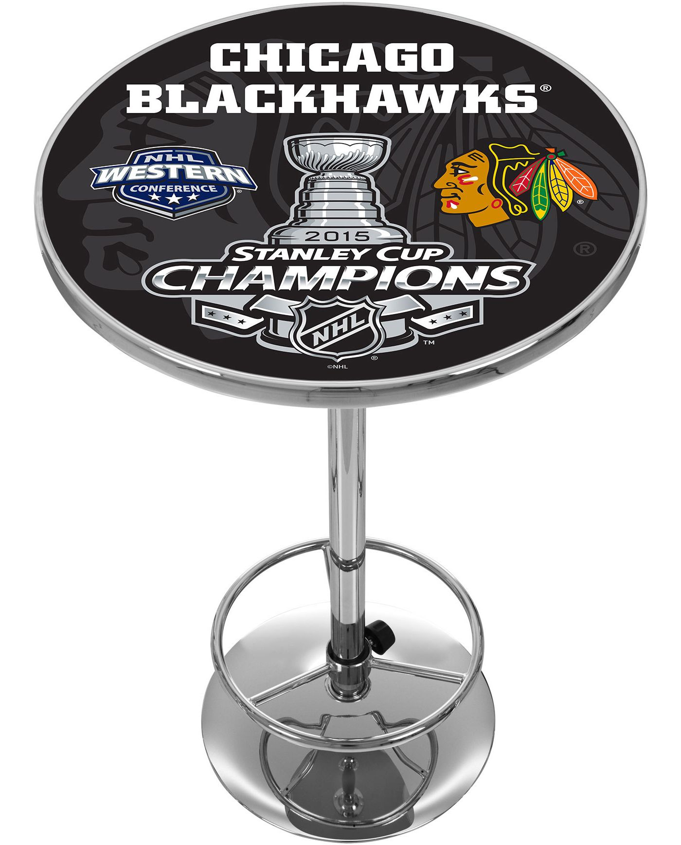 Trademark Global Chicago Blackhawks 2015 Stanley Cup Pub Table