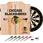 Trademark Global Chicago Blackhawks Dart Cabinet Set