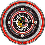 Trademark Global Chicago Blackhawks Vintage Neon Clock