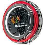 Trademark Global Chicago Blackhawks Watermark Neon Clock
