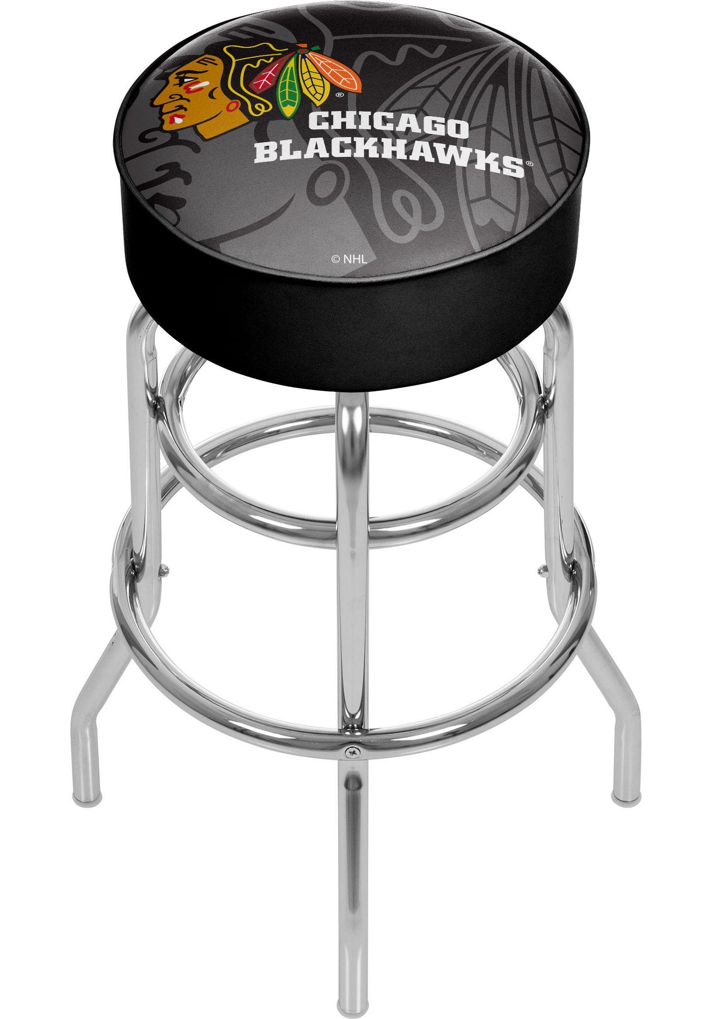 Trademark Global Chicago Blackhawks Watermark Bar Stool