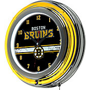Trademark Global Boston Bruins Chrome Neon Clock