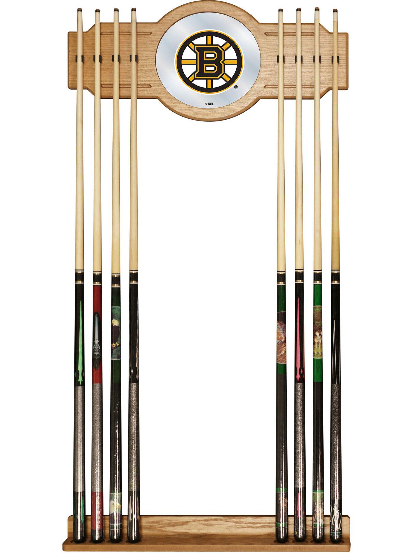 Trademark Global Boston Bruins Cue Rack with Mirror