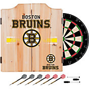 Trademark Global Boston Bruins Dart Cabinet Set