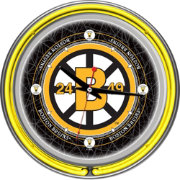 Trademark Global Boston Bruins Vintage Neon Clock
