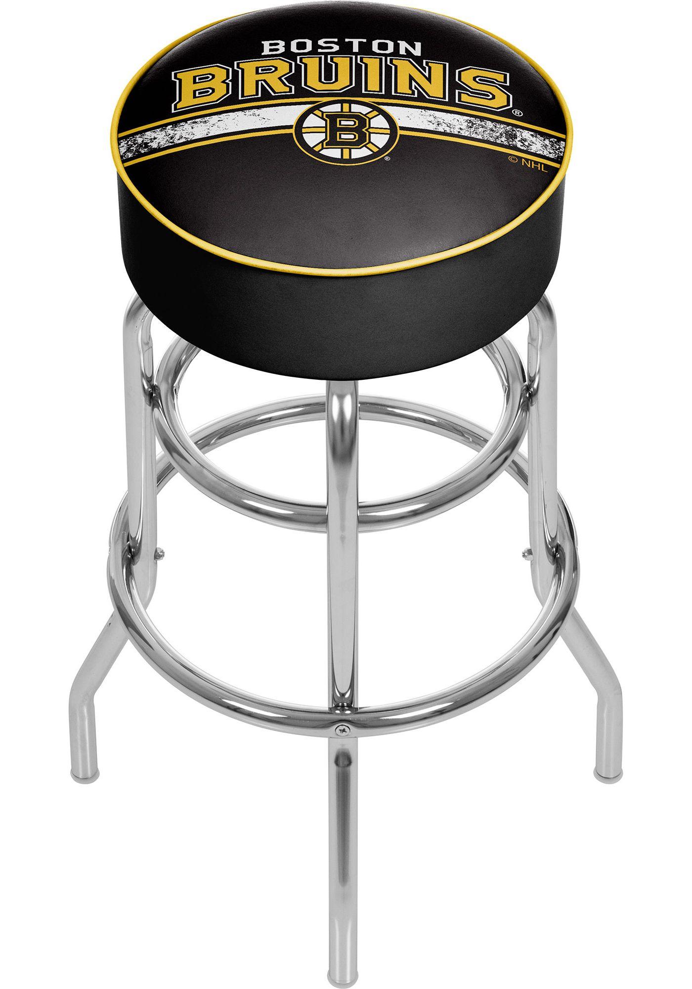 Trademark Global Boston Bruins Swivel Padded Bar Stool
