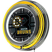Trademark Global Boston Bruins Watermark Neon Clock