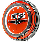 Trademark Global Philadelphia Flyers Chrome Neon Clock