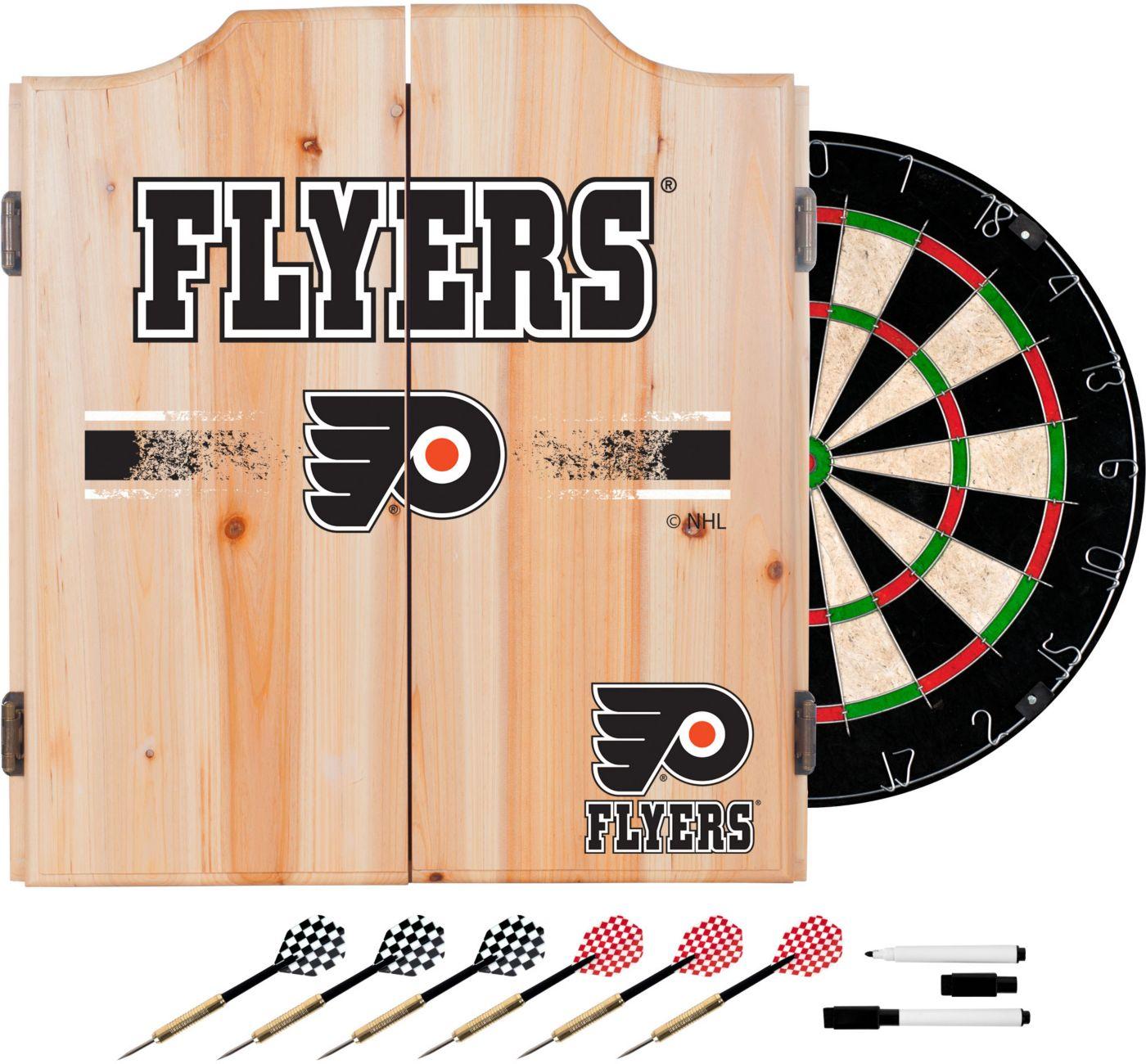 Trademark Global Philadelphia Flyers Dart Cabinet Set