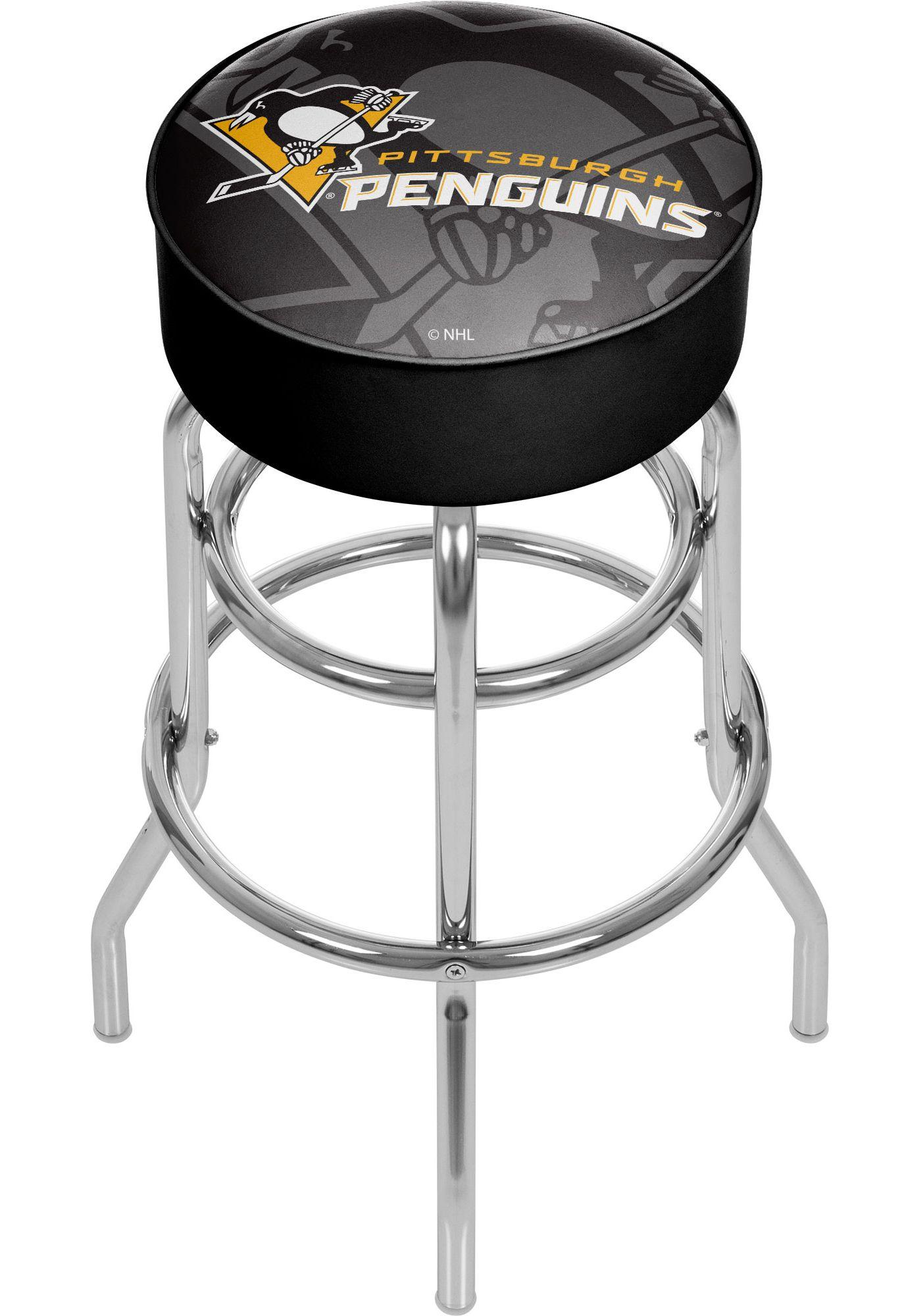 Trademark Global Pittsburgh Penguins Watermark Bar Stool