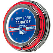 Trademark Global New York Rangers Chrome Neon Clock