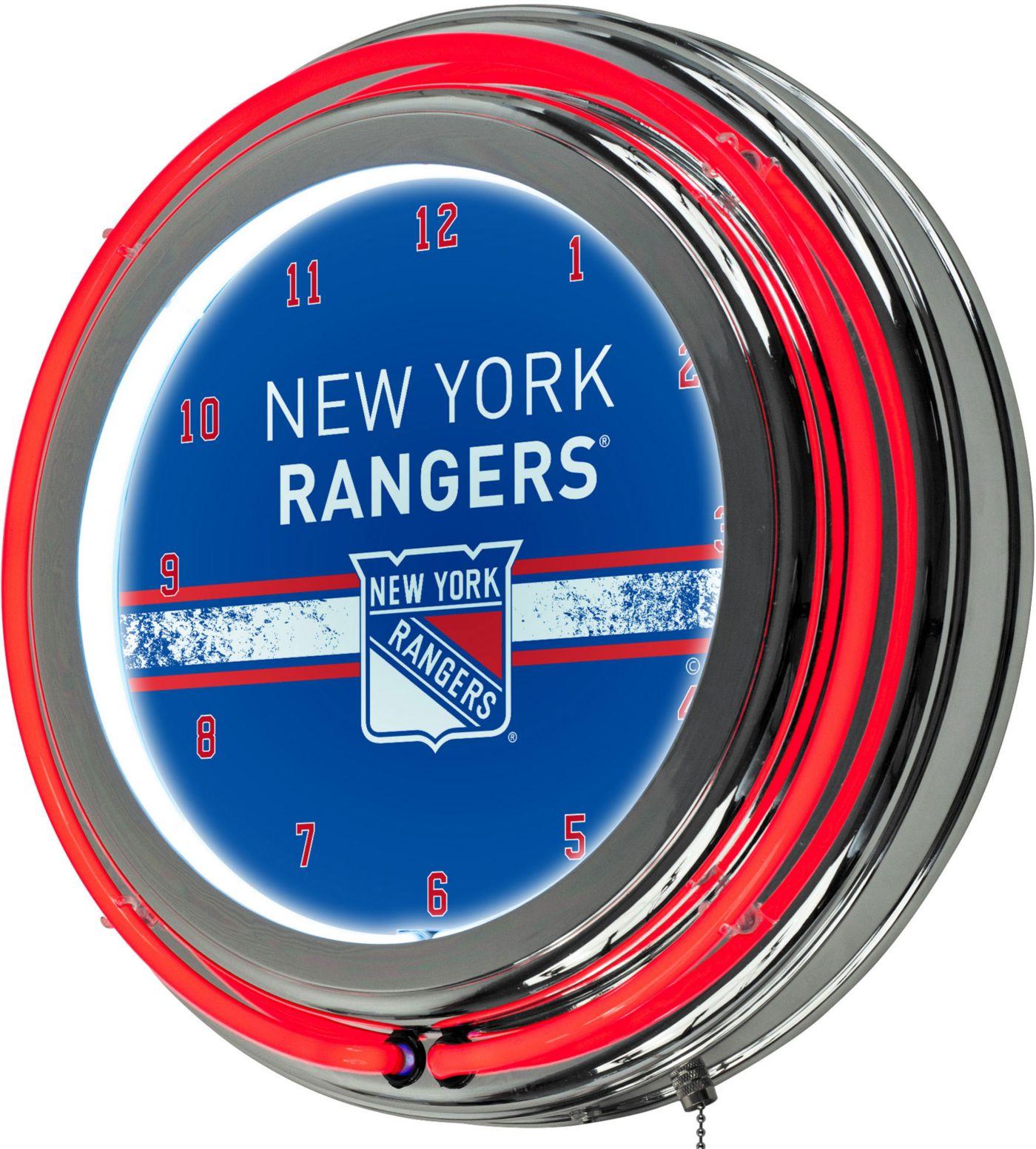 Trademark Global New York Rangers Chrome Neon Clock