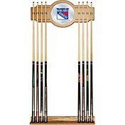 Trademark Global New York Rangers Cue Rack with Mirror