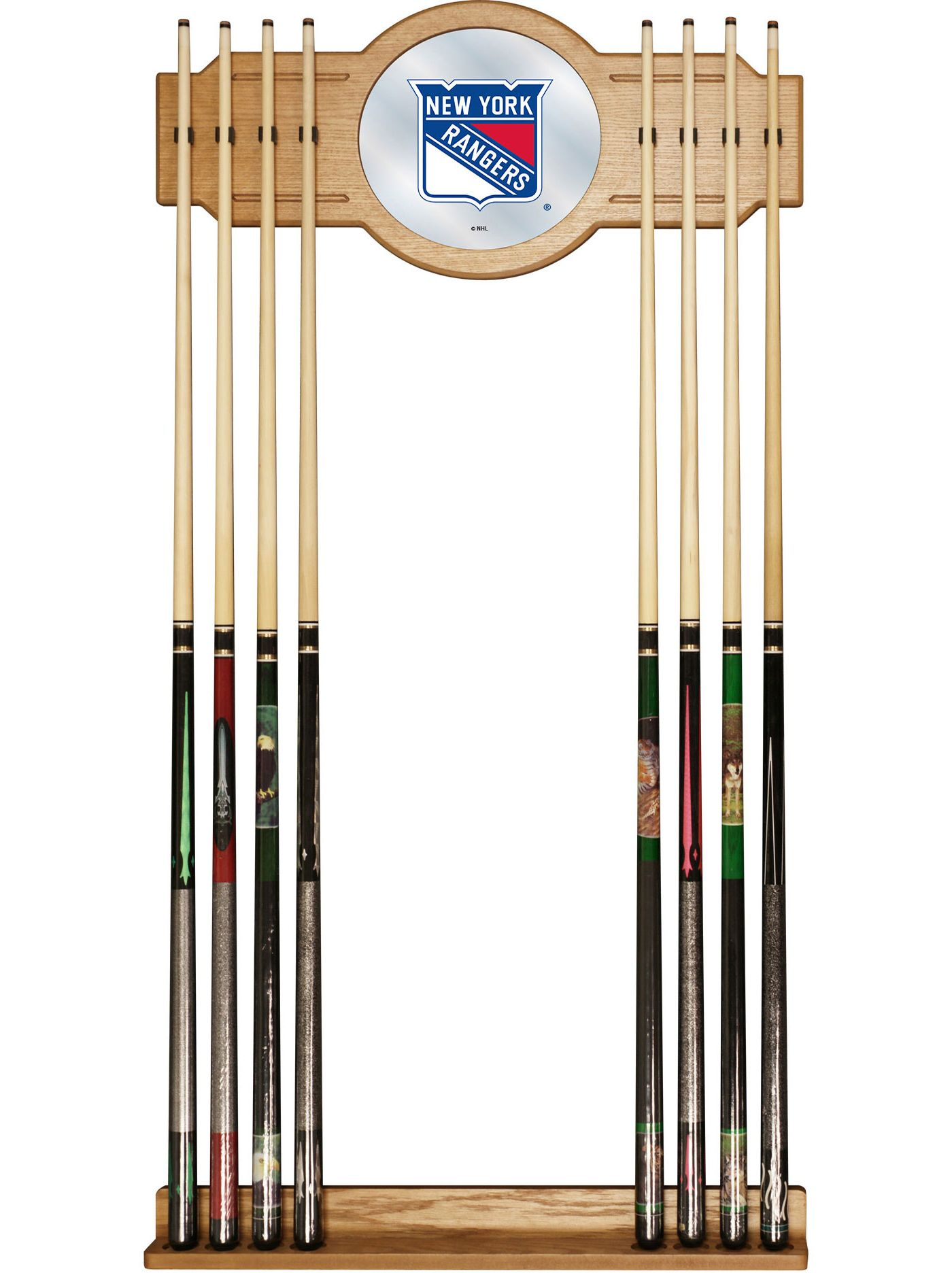 Trademark Global New York Rangers Cue Rack with Mirror