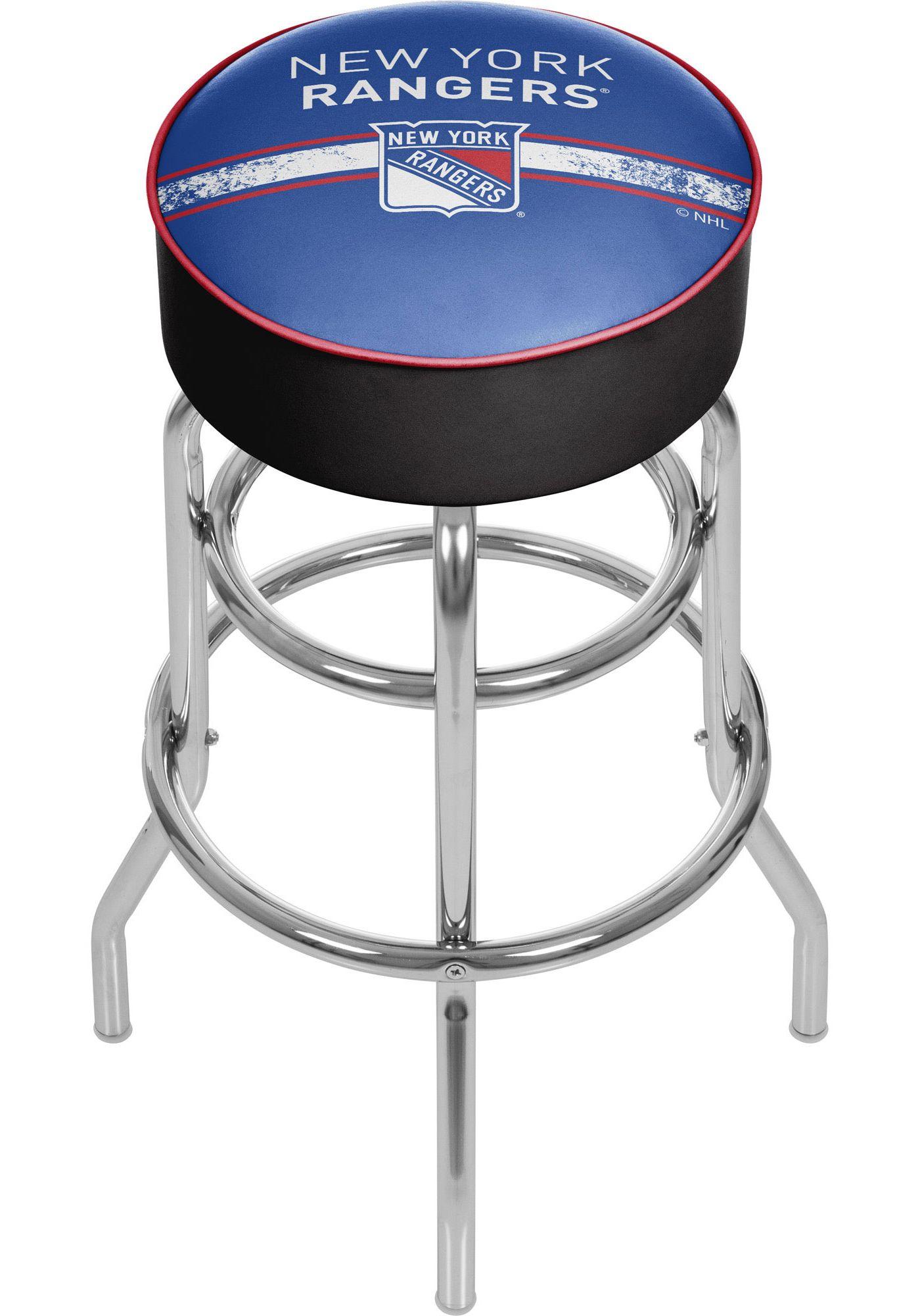Trademark Global New York Rangers Swivel Bar Stool