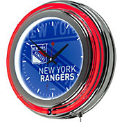 Trademark Global New York Rangers Watermark Neon Clock
