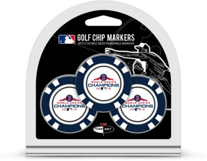 Team Golf 2018 World Series Champions Boston Red Sox Poker Chips Ball Markers – 3-Pack