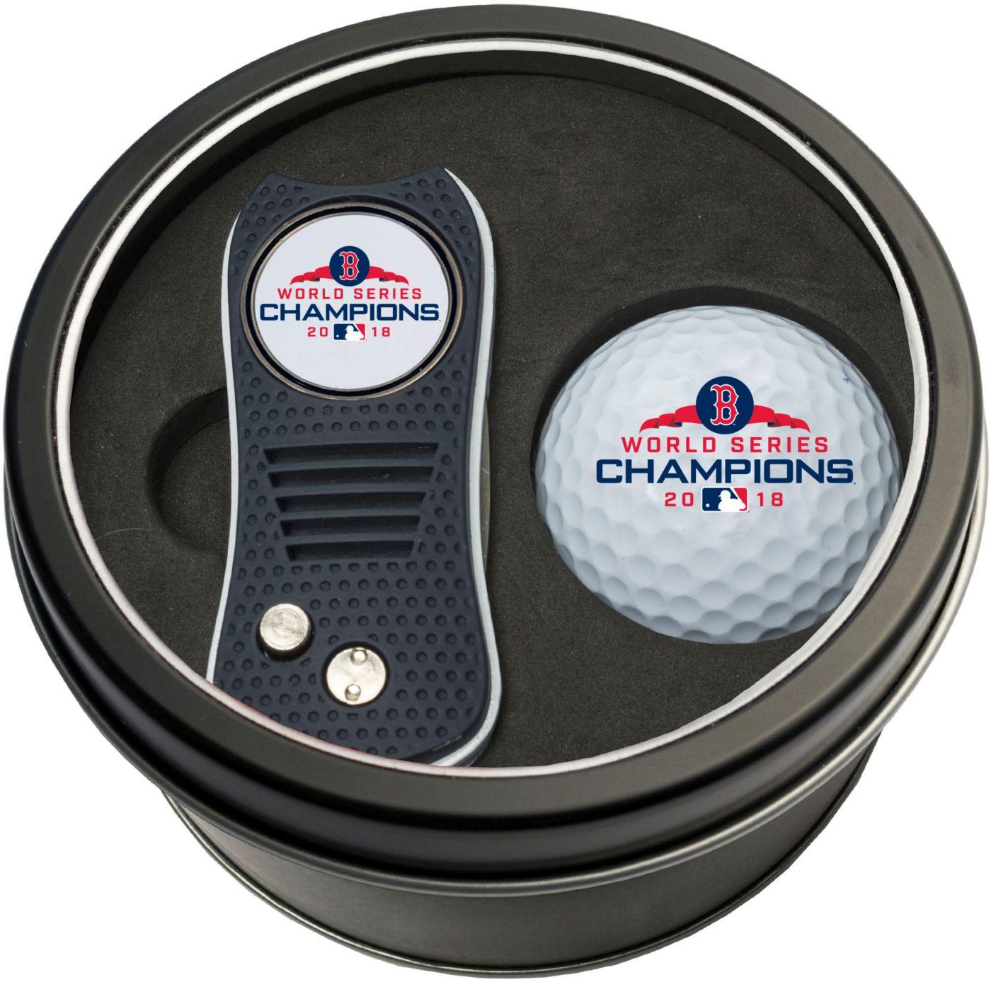 Team Golf 2018 World Series Champions Boston Red Sox Switchfix Divot Tool and Golf Ball Set