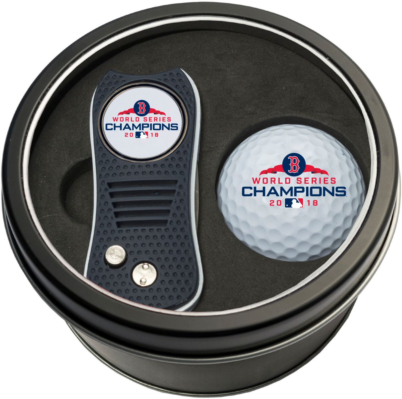 Team Golf 2018 World Series Champions Boston Red Sox Switchfix Divot Tool and Golf Ball Set