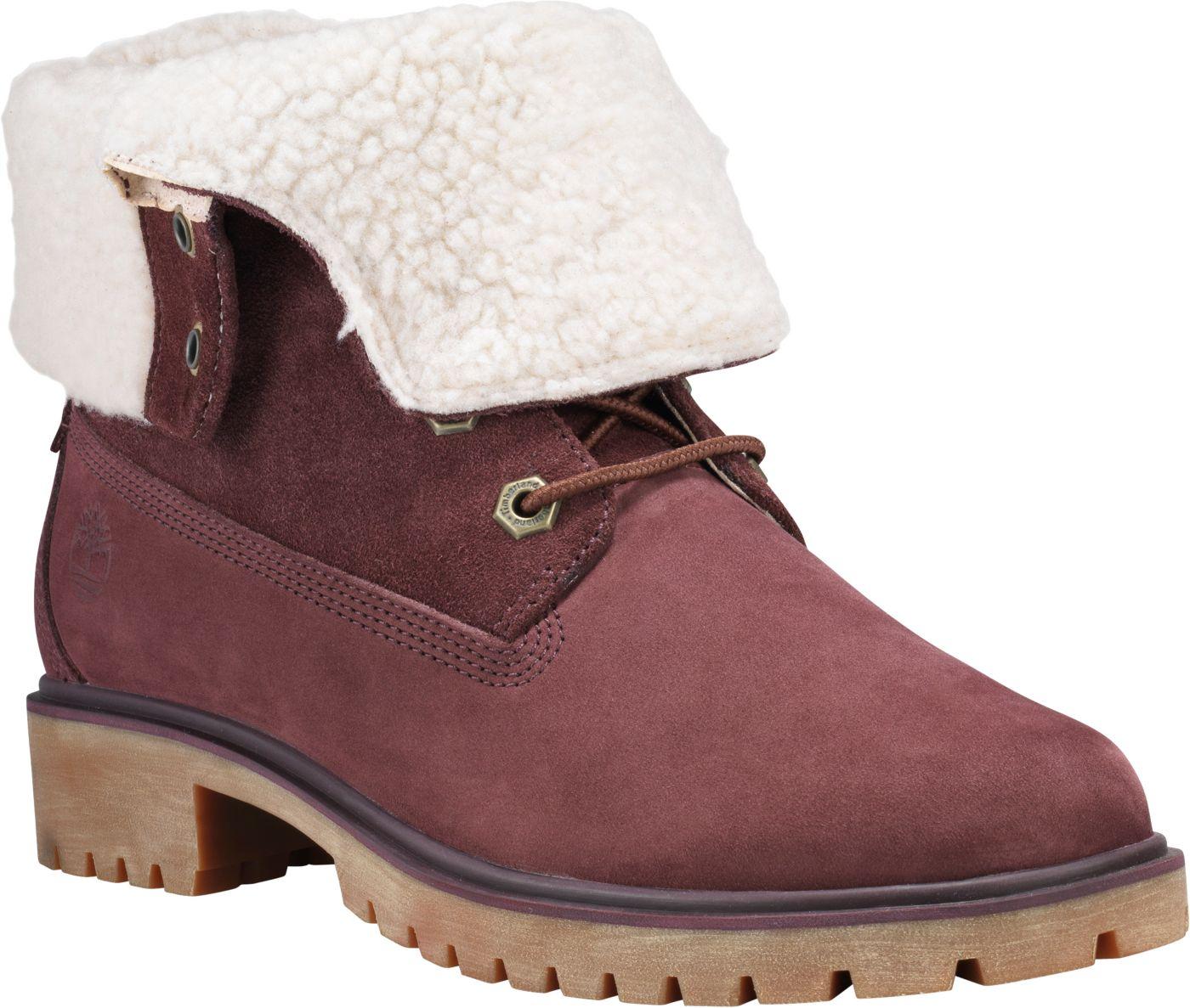 Timberland Women's Jayne Fleece Fold-Down Waterproof Boots