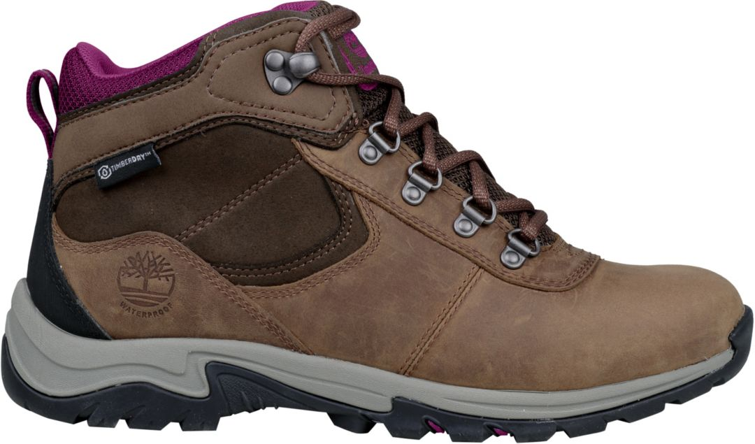 bd5274fd8e5 Timberland Women's Mt. Maddsen Mid Leather Waterproof Hiking Boots