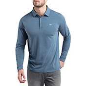 TravisMathew Men's Backup Plan Long Sleeve Golf Polo