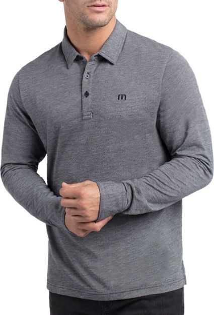 TravisMathew Men's Gir Long Sleeve Golf Polo