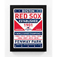 That's My Ticket 2018 World Series Champions Boston Red Sox Dual Tone Team Sign Framed Print