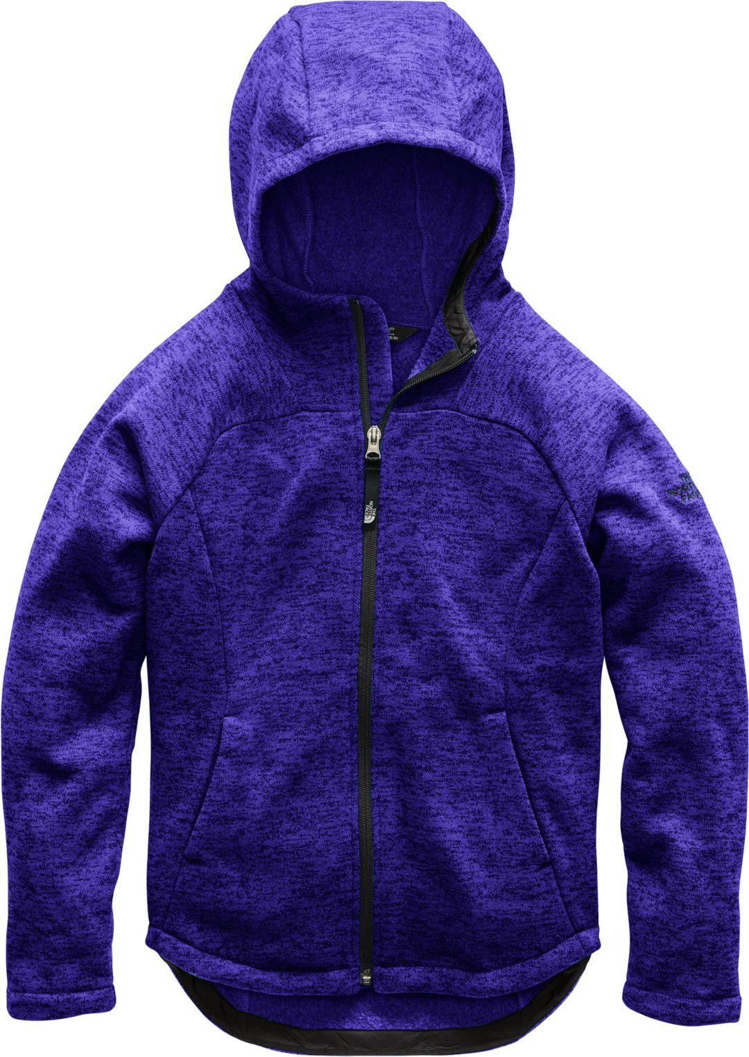 5ff7026bc The North Face Girls' Indi Fleece Full Zip Jacket
