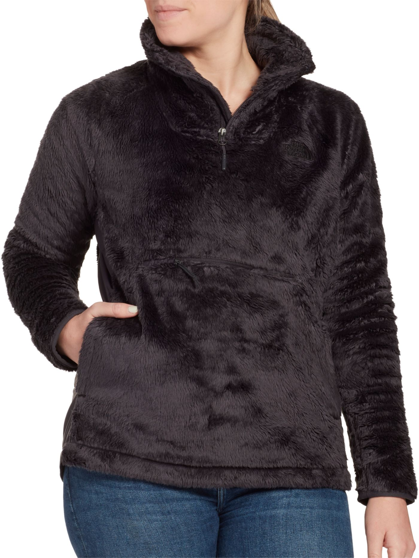 The North Face Women's Osito Sport Hybrid 1/4 Zip Fleece Pullover