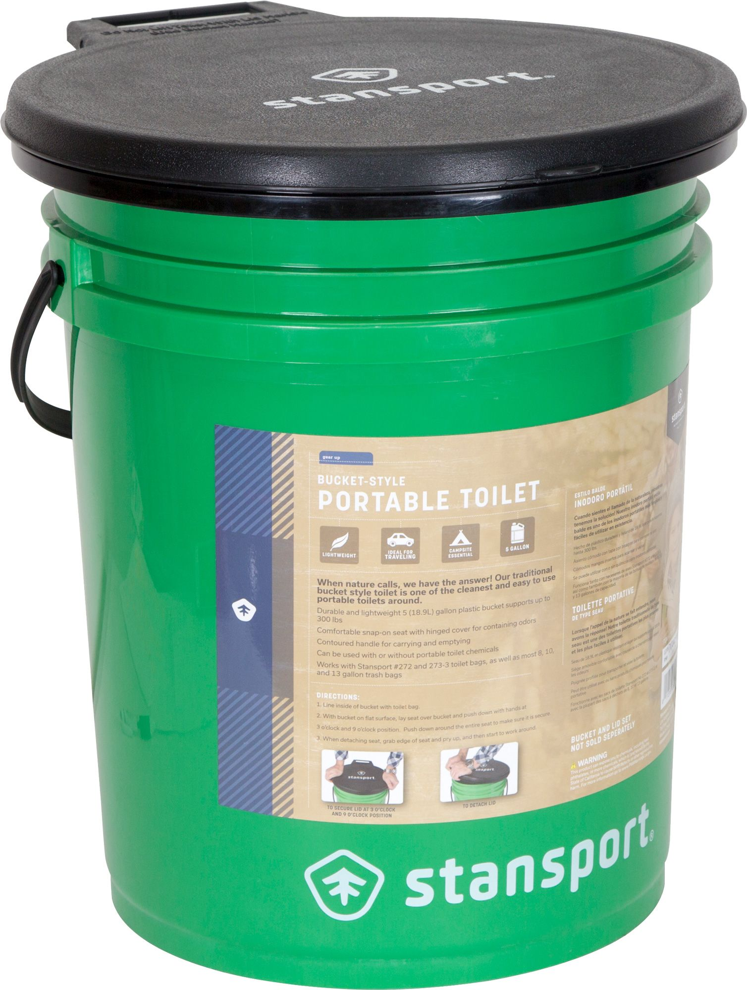 Merveilleux Stansport Bucket Style Portable Toilet