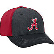 Top of the World Men's Alabama Crimson Tide Grey/Crimson Reach 1Fit Flex Hat