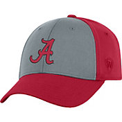Top of the World Men's Alabama Crimson Tide Grey/Crimson Two Tone Adjustable Hat