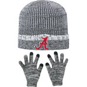 Top of the World Youth Alabama Crimson Tide Grey Lil Cyber Beanie and Gloves Set