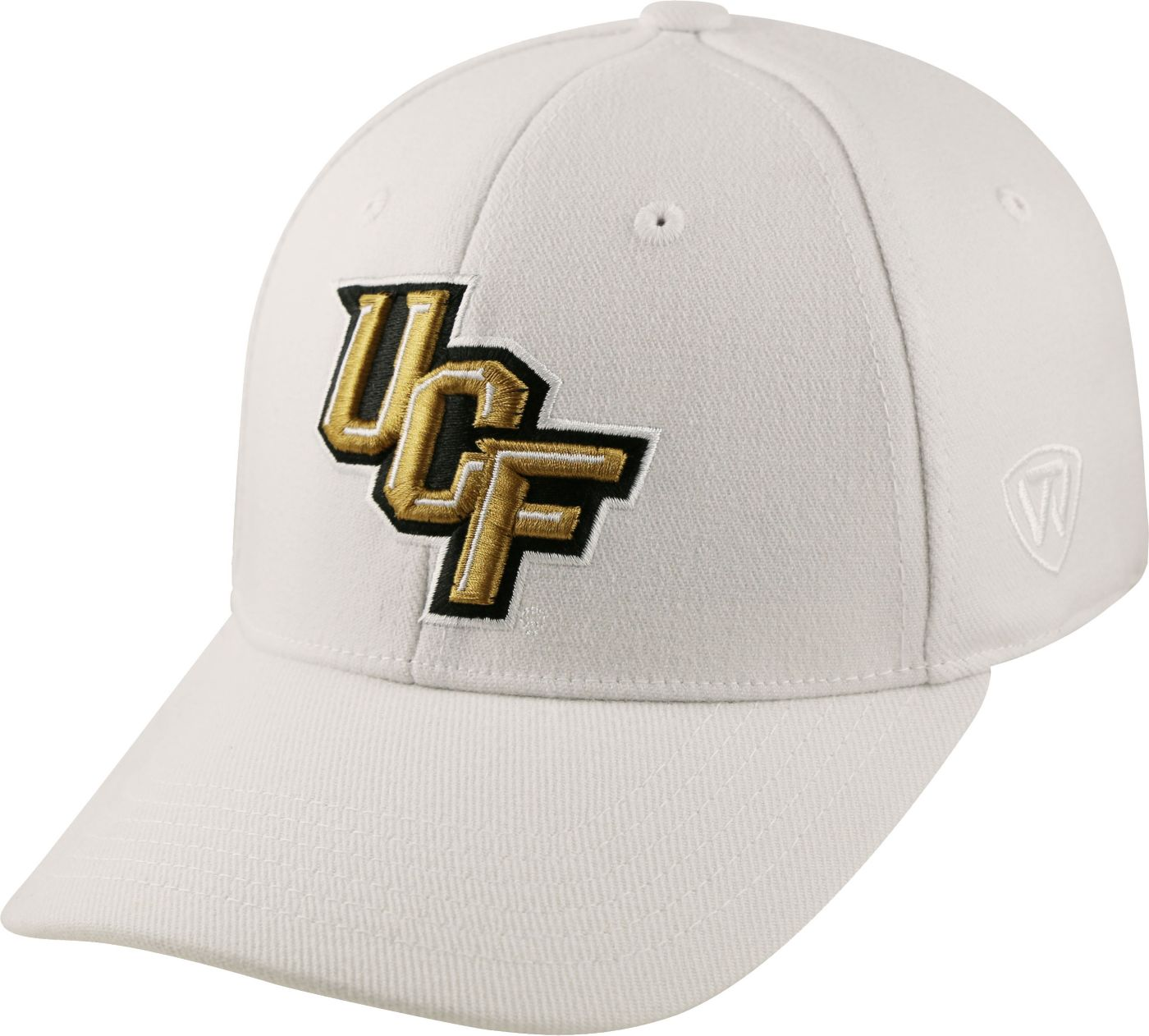 Top of the World Men's UCF Knights Premium Collection M-Fit White Hat