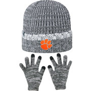 Top of the World Youth Clemson Tigers Grey Lil Cyber Beanie and Gloves Set