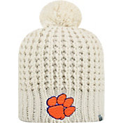 Top of the World Women's Clemson Tigers Slouch White Knit Beanie