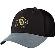 Top of the World Men's Colorado Buffaloes Black Twill Elite Mesh 1Fit Flex Hat