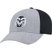 Top of the World Men's Colorado State Rams Grey/Black Faboo 1Fit Hat