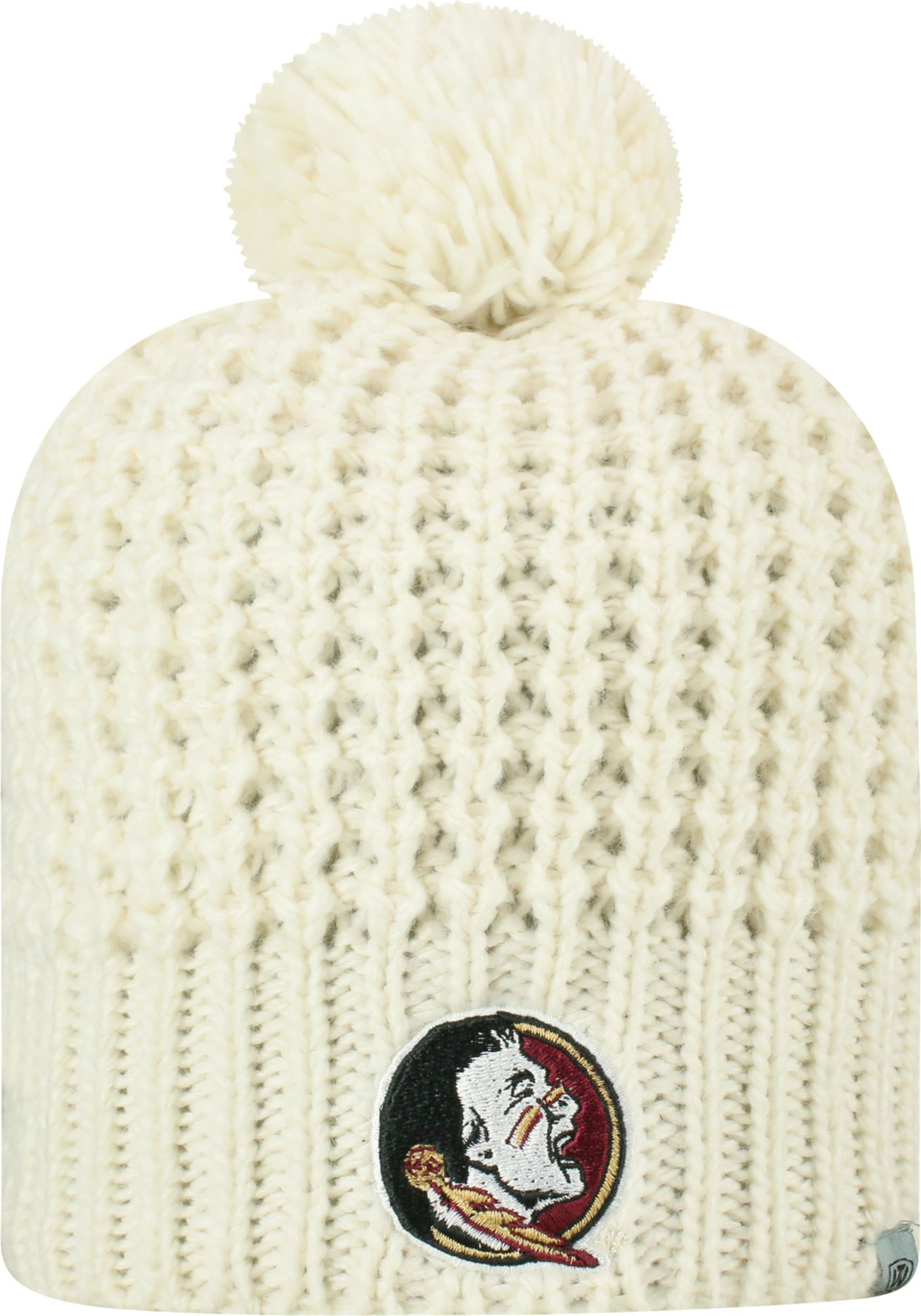 Top of the World Women's Florida State Seminoles Slouch White Knit Beanie