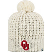 Top of the World Women's Oklahoma Sooners Slouch White Knit Beanie