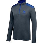 Top of the World Men's Kentucky Wildcats Grey Get Up Quarter-Zip Top