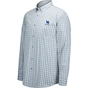 Top of the World Men's Kentucky Wildcats Grey/White No Excuses Button Down Long Sleeve Shirt