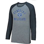Top of the World Men's Kentucky Wildcats Grey/Black AAA Long Sleeve Raglan Tee